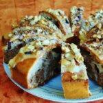 Ciasto marmurkowe z bananami