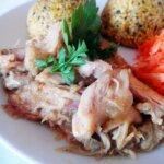 Mięso w sosie chrzanowo – miodowym (jak wykorzystać mięso z rosołu?)