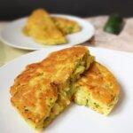 Ciasto z cukinią z warzywnym nadzieniem – wegańskie placki z cukinią