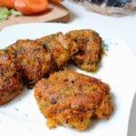 Kotlety z marchewki – wegańskie kotlety marchewkowe z pieczarkami i porem