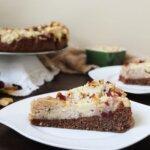 Orzechowo-gryczane ciasto z bakaliami