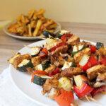 Szaszłyki z tofu i warzywami – wegański grill